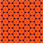 Orange and Black Barbed Wire Octagon Pattern