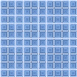 Blue Squares In Squares Pattern
