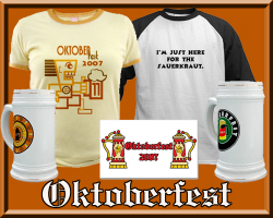 Oktoberfest T-shirts, Steins & Gear
