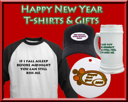 Funny Happy New Year T-shirts & Gifts for 2008