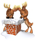 Cute Reindeer Christmas Ornaments & Gifts