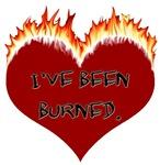 I've Been Burned Flaming Heart