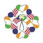 Patriotic Irish American St. Patrick's Day T-shir