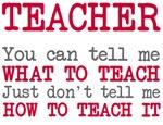 Teacher Not How To Teach