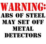 Warning abs of steel metal detectors