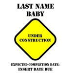 Under Construction Personalize Baby