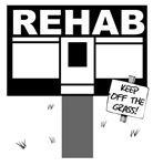 Rehab Keep Off The Grass Pun Punny Shirt T-shirt