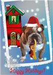 Bulldog Christmas Keys
