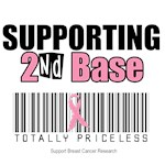 Supporting 2nd Base Totally Priceless T-Shirts