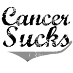 Grunge Style Cancer Sucks Brain Cancer T-Shirts