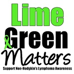 Lime Green Matters Non-Hodgkin's Lymphoma T-Shirts