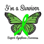 I'm a Survivor Lymphoma Butterfly T-Shirts & Gifts