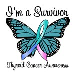 Survivor Thyroid Cancer Butterfly T-Shirts & Gifts