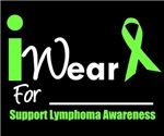 I Wear Lime Green Lymphoma Black T-Shirts
