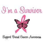 Breast Cancer Survivor Butterfly T-Shirts & Gifts