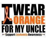 I Wear Orange For My Uncle Leukemia Shirts