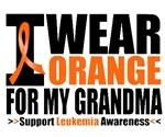 I Wear Orange For My Grandma Leukemia Shirts