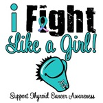 I Fight Like a Girl Thyroid Cancer T-Shirts & Gift