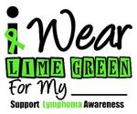 I Wear Lime Green Retro Lymphoma Shirts