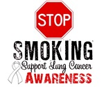 Stop Smoking Support Lung Cancer Awareness Shirts