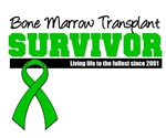 Bone Marrow Survivor Since 2001 Shirts & Gifts