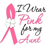 I Wear Pink Flower Breast Cancer Shirt