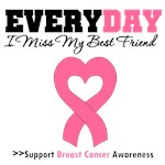 Everyday I Miss My Best Friend Breast Cancer Shirt