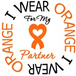 I Wear Orange Ribbon Partner Leukemia Shirts