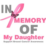 In Memory of My Daughter Breast Cancer Shirts