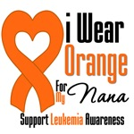 Leukemia I Wear Orange For My Nana Shirts