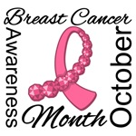 Breast Cancer Month Gemstone Ribbon T-Shirts