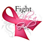 Breast Cancer Ribbon Fight Like a Girl Shirts