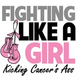 Breast Cancer Fighting Like a Girl Kicking Ass Shi