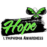 Hope Tattoo Butterfly Lymphoma Shirts