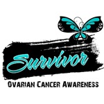 Ovarian Cancer Survivor Butterfly Tattoo Shirts