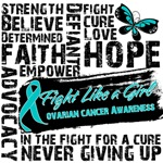 Collage Fight Girl Ovarian Cancer Shirts and Gifts