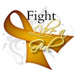 Appendix Cancer Fight Like a Girl Shirts and Gifts