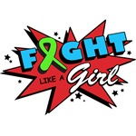 Fight Like a Girl Super-POW Lymphoma Shirts