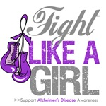 Alzheimer's Disease Fight Like a Girl Shirts