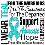 Teal Collage Ovarian Cancer Shirts