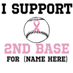 Custom 2nd Base Breast Cancer Shirt