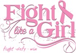 Fight Like a Girl Swirls Breast Cancer Shirts