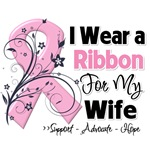 Wife Pink Ribbon Breast Cancer Shirts