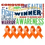 Empowering Words Leukemia Shirts