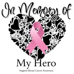 In Memory Breast Cancer Heart Pink Ribbon Shirts