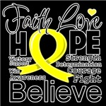 Faith Hope Testicular Cancer Shirts