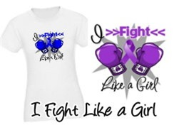I Fight Like a Girl Boxing Gloves Shirts