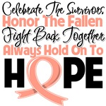 Uterine Cancer Celebrate Honor Fight Hope Shirts