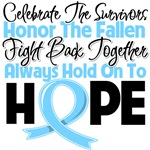 Prostate Cancer Celebrate Honor Fight Hope Shirts