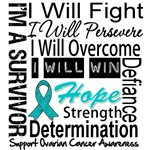 Ovarian Cancer Persevere Shirts